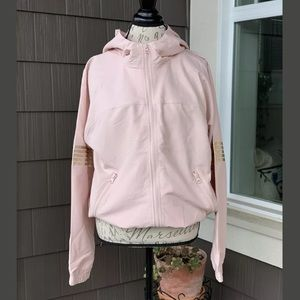 NWT FOREVER 21 Zip Up Cowl Neck Hoodie Jacket Lg